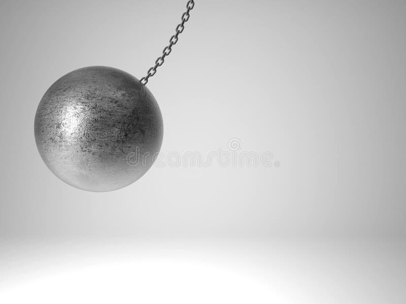Boule de oscillation en métal illustration de vecteur