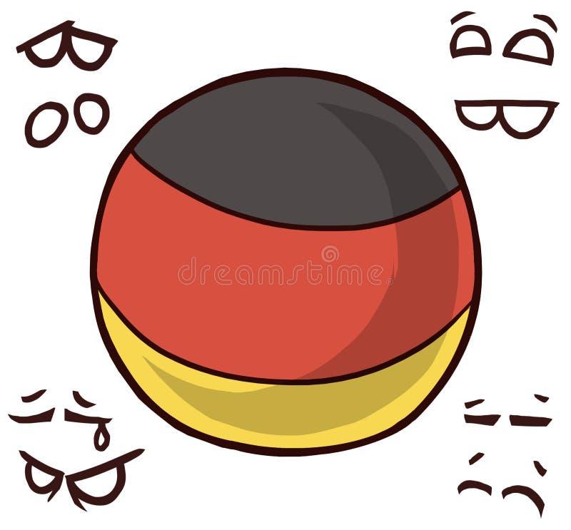 Boule de pays de l'Allemagne illustration stock