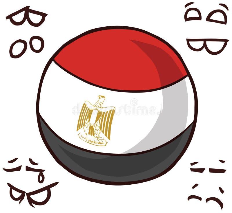 Boule de pays de l'Egypte illustration libre de droits