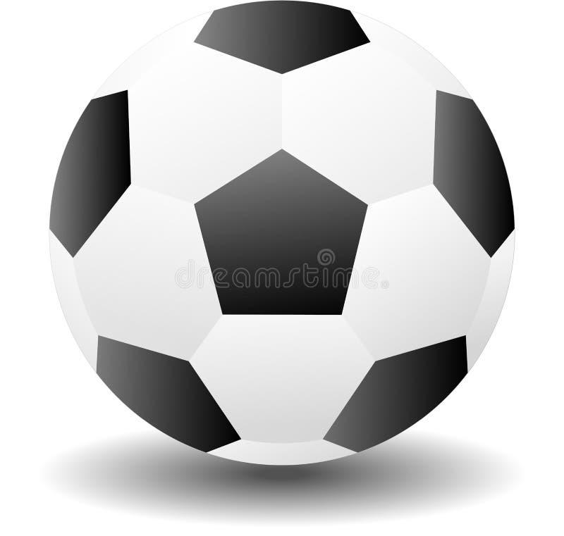 Boule de pied, objets de sport d'ic?ne du football pour le logo, symbole de signe de vecteur pour la conception photo libre de droits
