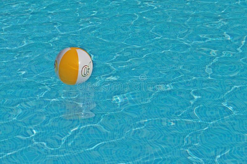 Boule de piscine de piscine de boule images libres de droits