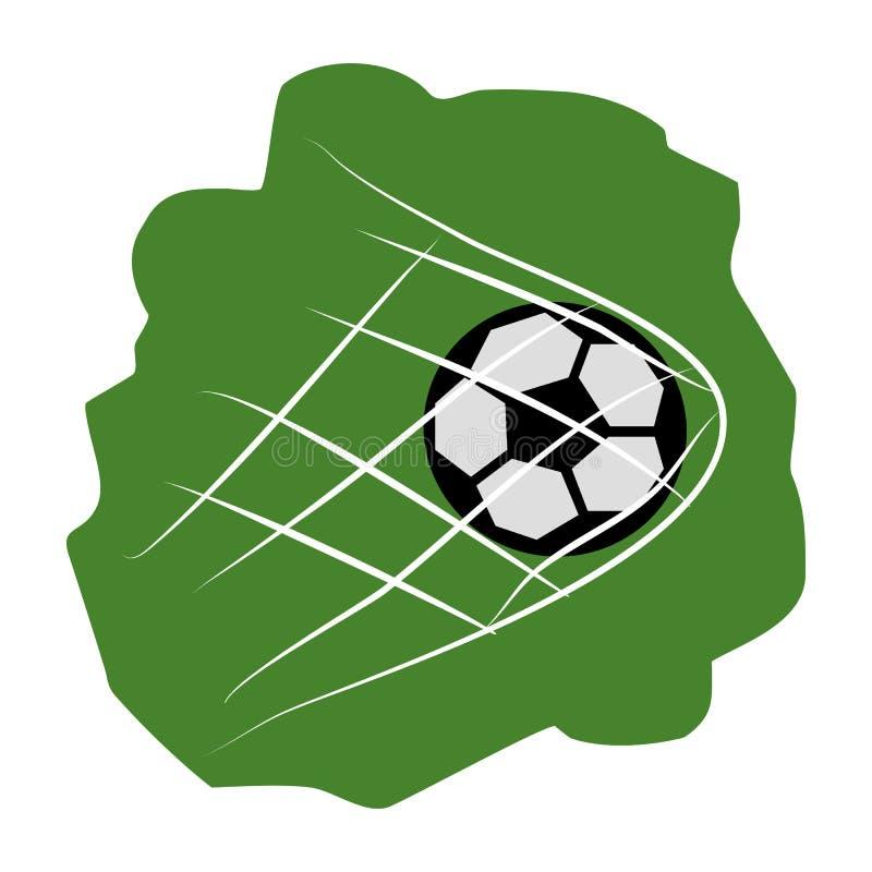 Boule de soccer dans le filet illustration stock