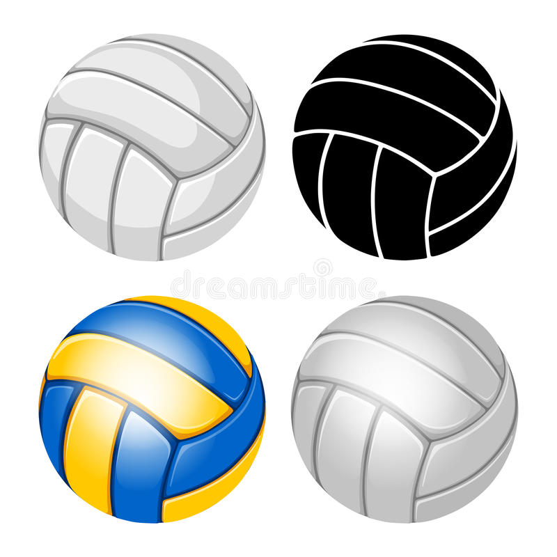 Boule de volleyball illustration de vecteur