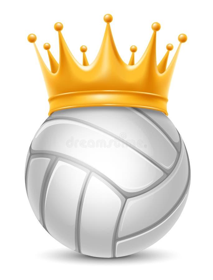 Boule de volleyball dans la couronne illustration libre de droits