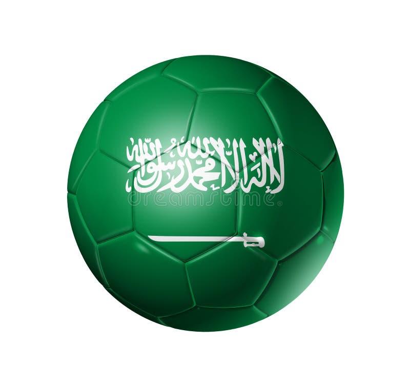 Boule du football du football avec le drapeau de l'Arabie Saoudite illustration libre de droits