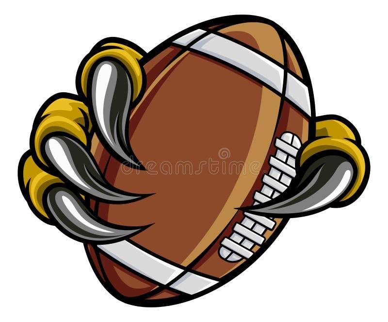 Boule du football d'Eagle Bird Monster Claw Holding illustration libre de droits
