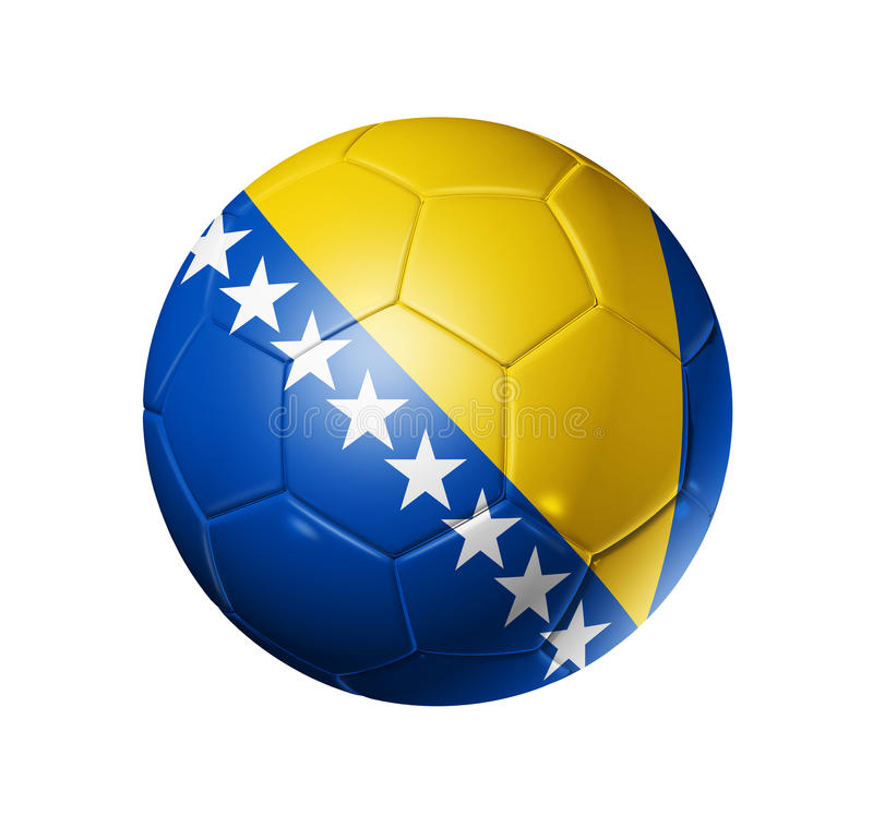 Boule du football du football avec la Bosnie-Herzégovine f illustration stock