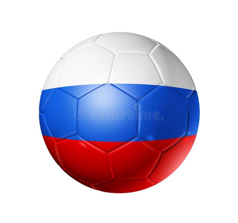 Boule du football du football avec le drapeau de la Russie illustration de vecteur