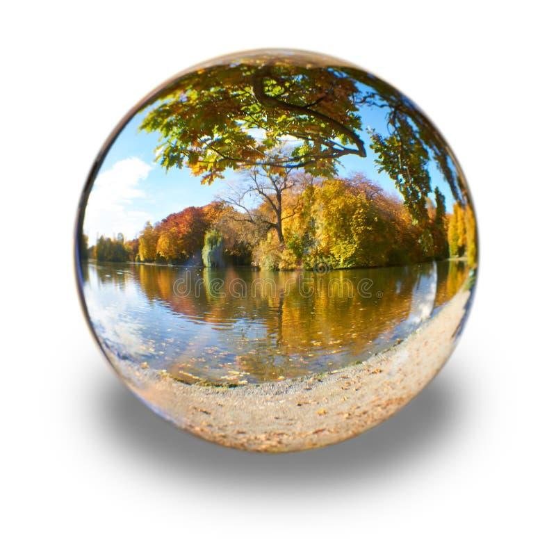 Boule en verre image libre de droits