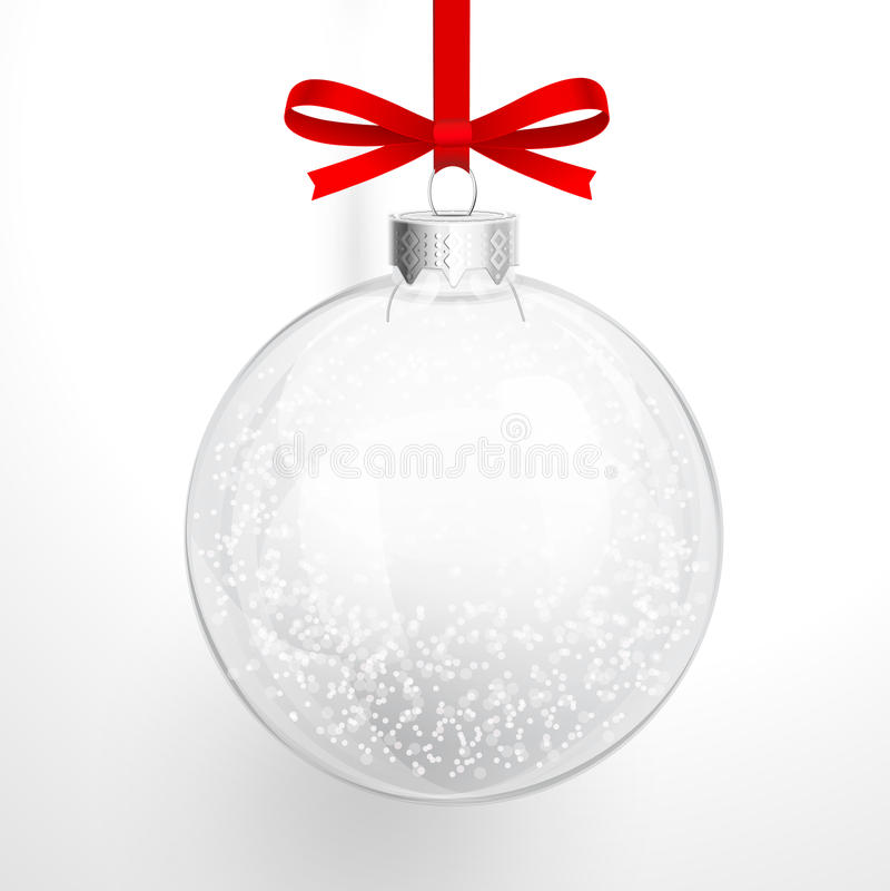 Boule en verre de Noël illustration de vecteur