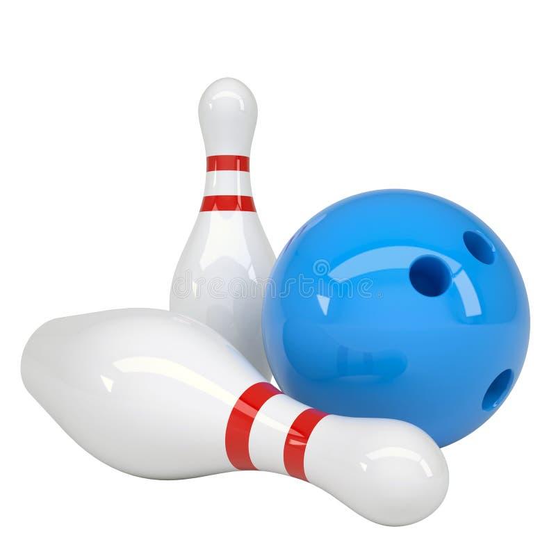 Boule et goupilles de bowling illustration libre de droits