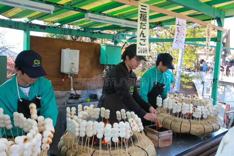 Boule grillée de farine de riz (le bonbon japonais traditionnel, Dang disparaissent) photographie stock libre de droits