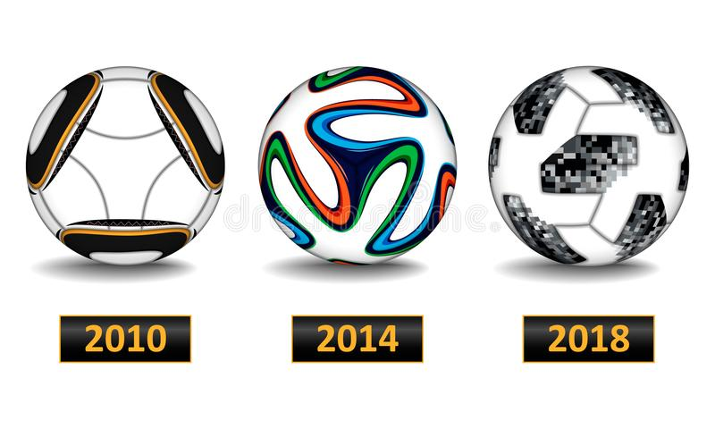 Boule réaliste du football illustration de vecteur