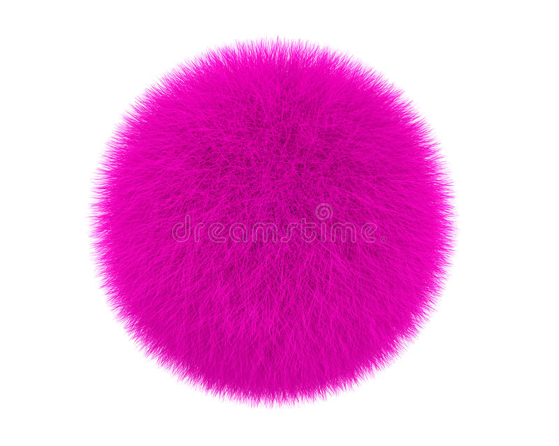 Boule rose de fourrure illustration stock