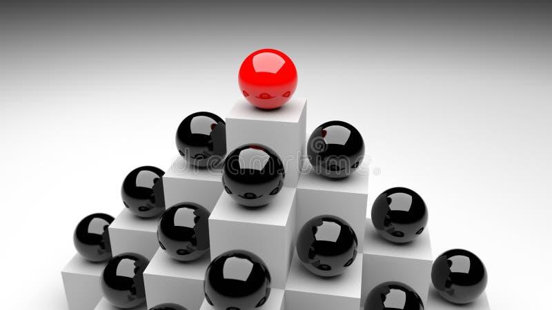 Boule rouge de chef illustration de vecteur