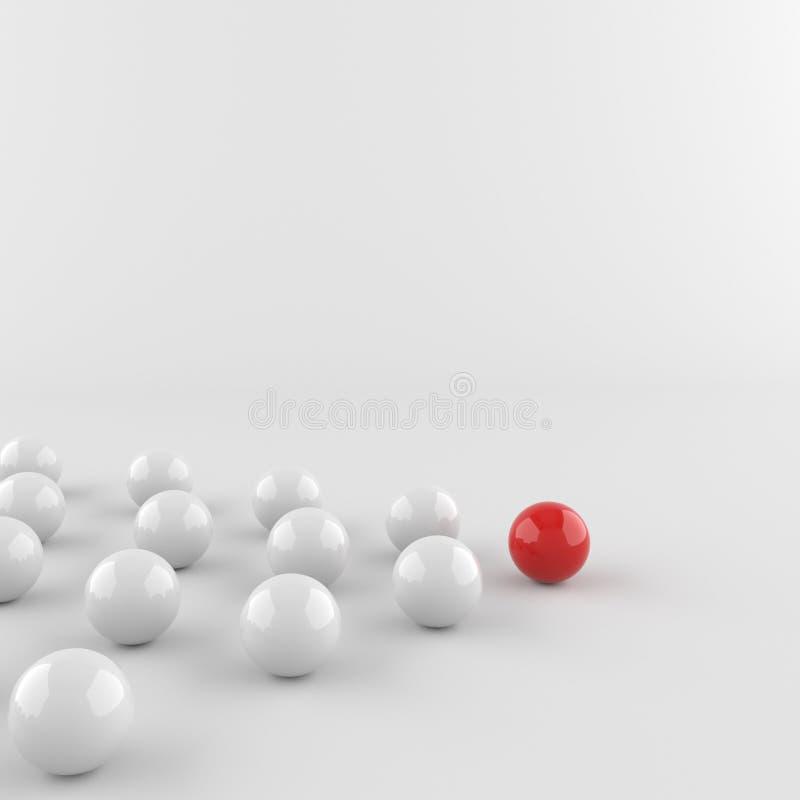 Boule rouge de chef illustration libre de droits