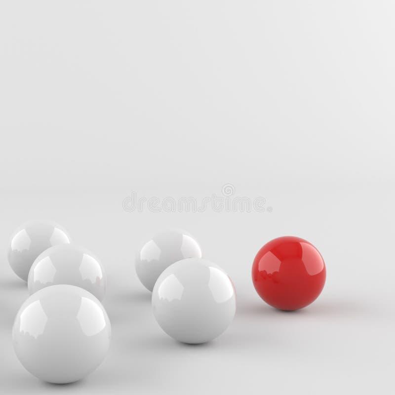 Boule rouge de chef illustration stock