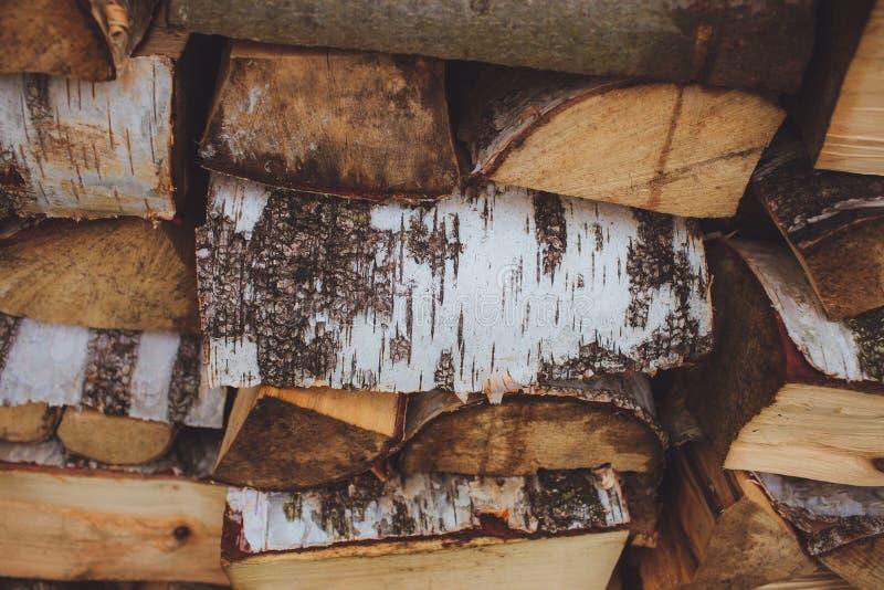 Bouleau de faisceaux en bois photos stock
