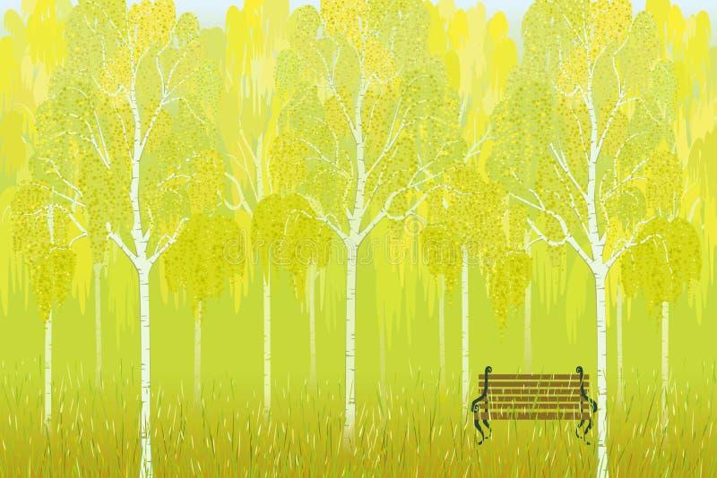 Bouleaux d'automne illustration libre de droits