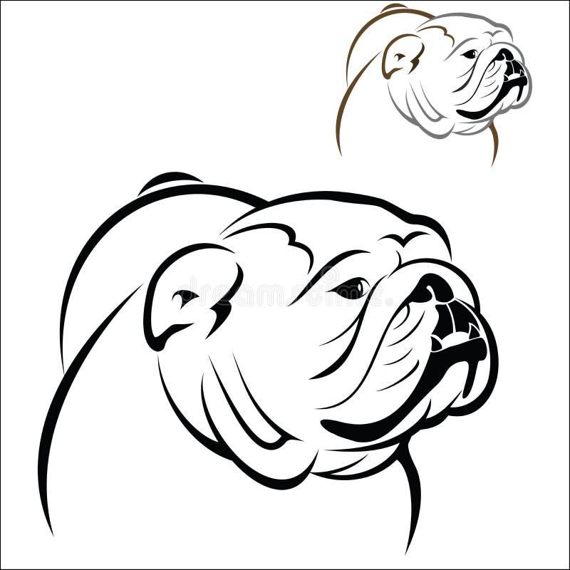 Bouledogue anglais illustration stock