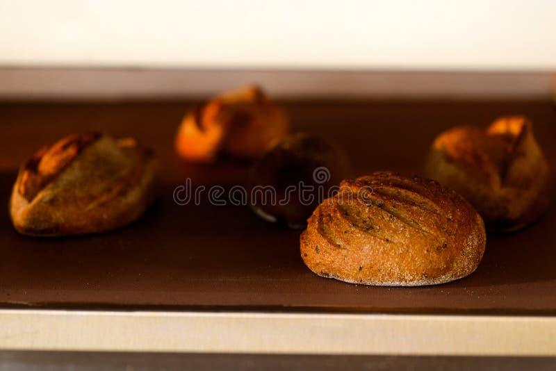Boulelaibe im Ofen lizenzfreie stockfotografie