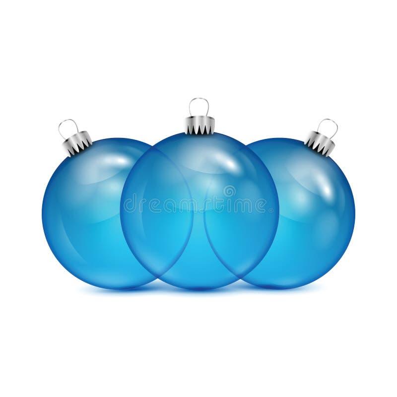 Boules bleues de Noël illustration stock