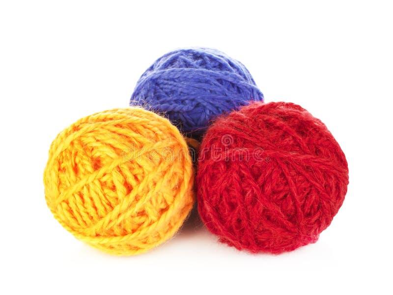 Boules colorées de fil photos libres de droits