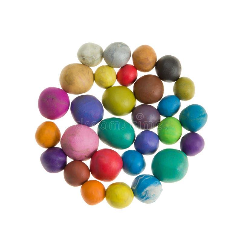 Boules colorées de pâte à modeler photographie stock libre de droits