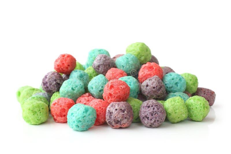 Boules de céréales colorées photos libres de droits