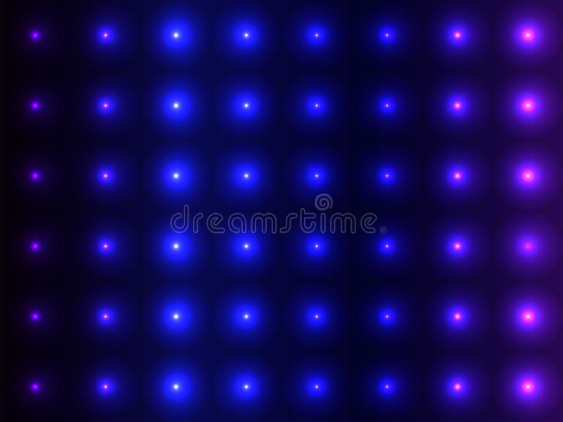 Boules convexes de nuances bleues, modèle de scintillement illustration stock