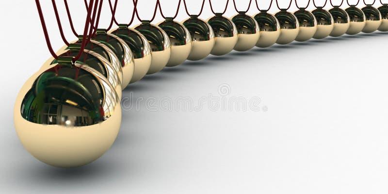 Boules d'or Newton illustration de vecteur