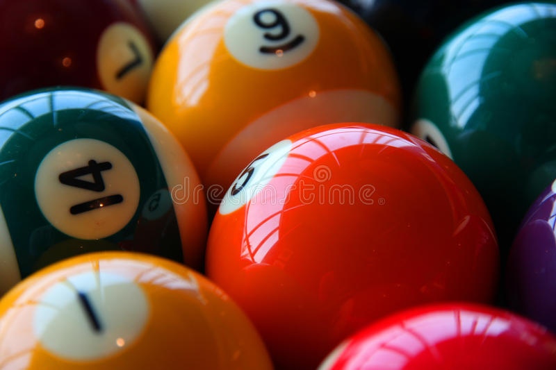 Boules de billard photo stock