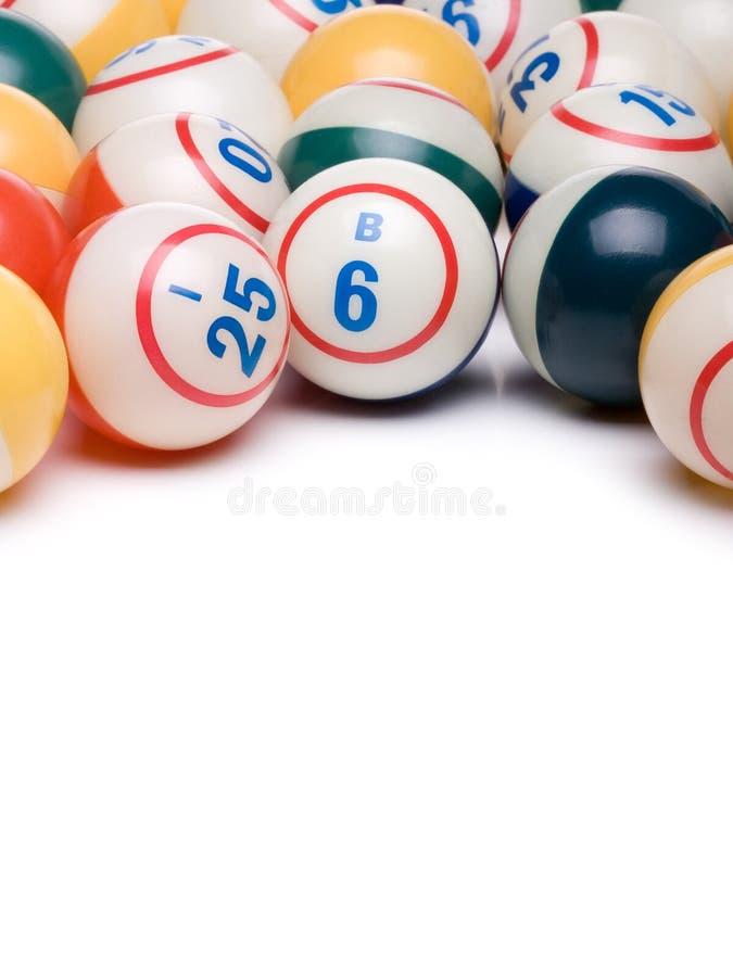 Boules de bingo-test photographie stock