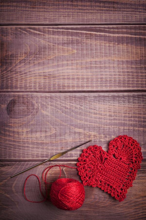 Boules de fil pour le tricotage image libre de droits