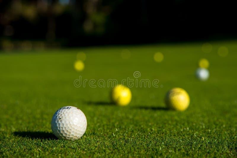 Boules de golf photographie stock libre de droits