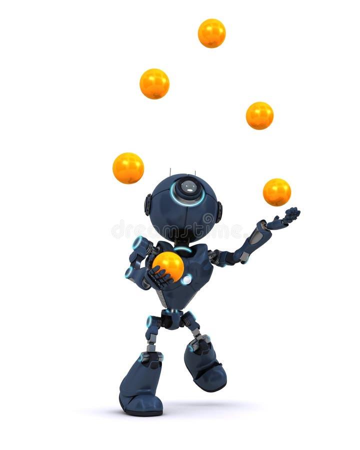 Boules de jonglerie d'Android illustration stock