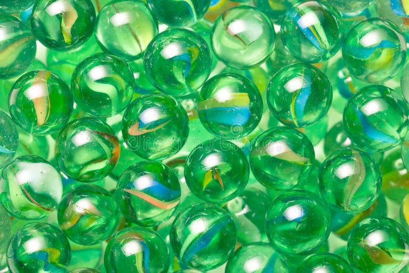 Boules de marbre en verre images libres de droits