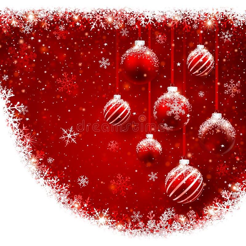 Boules de Noël illustration libre de droits