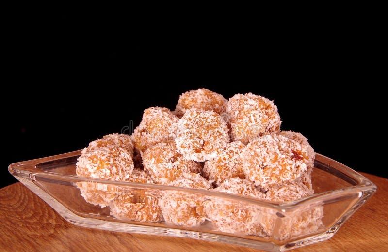 Boules de noix de coco images libres de droits