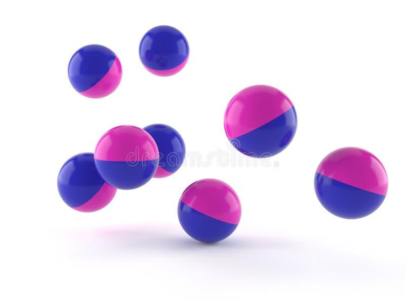 Boules de Paintball illustration stock