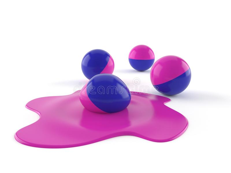 Boules de Paintball illustration de vecteur