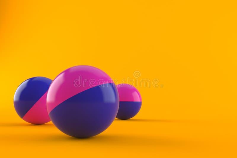Boules de Paintball illustration libre de droits