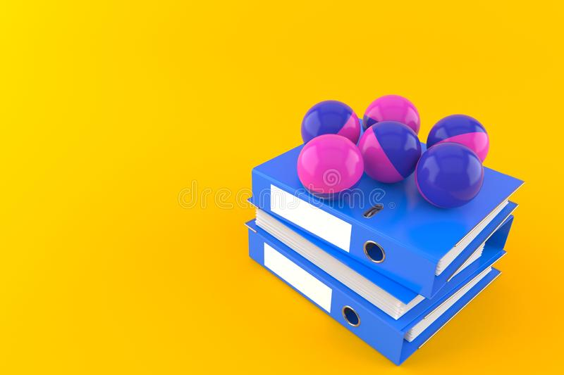 Boules de Paintball avec des reliures à anneaux illustration de vecteur