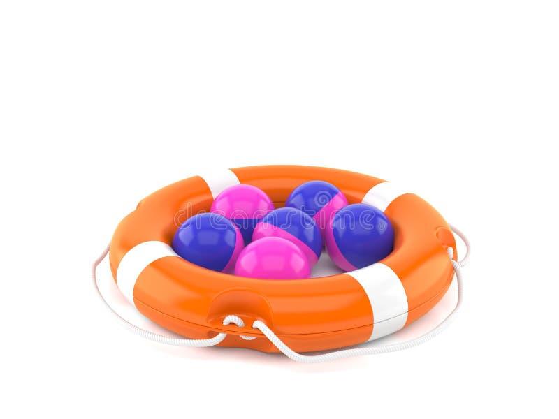 Boules de Paintball avec la balise de vie illustration libre de droits