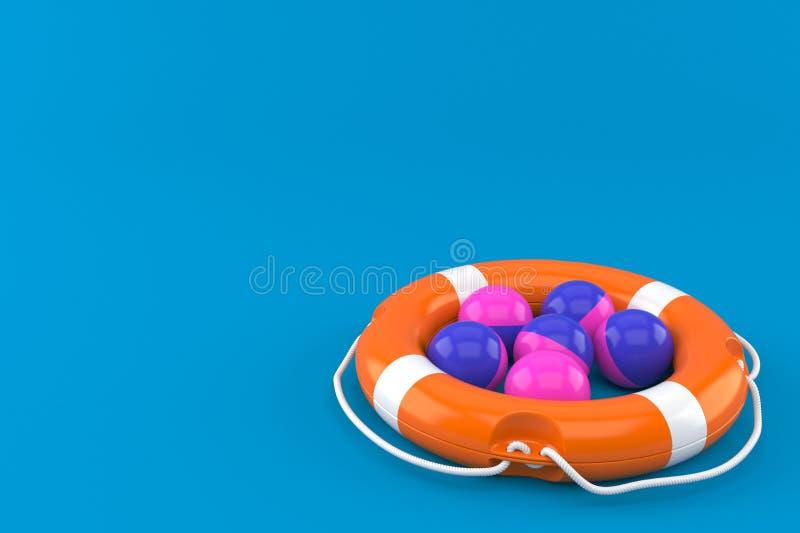 Boules de Paintball avec la balise de vie illustration de vecteur