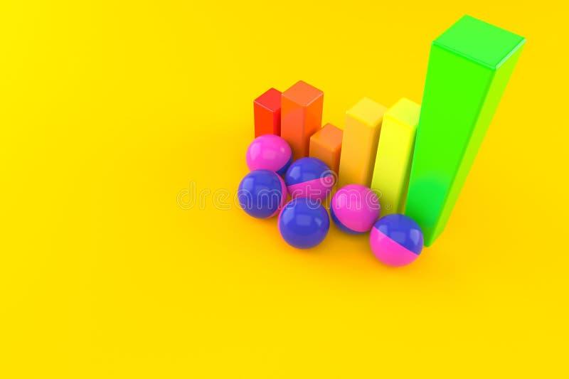 Boules de Paintball avec le diagramme illustration de vecteur