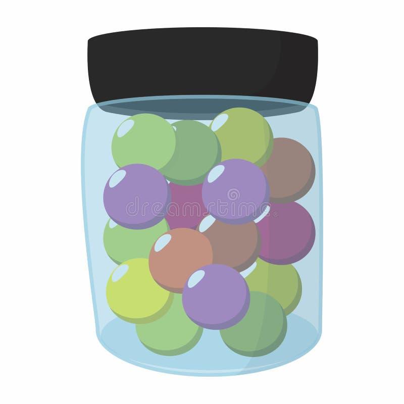 Boules de Paintball dans un pot illustration libre de droits