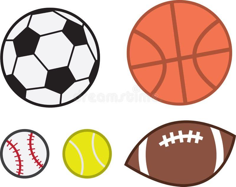Boules de sports illustration stock