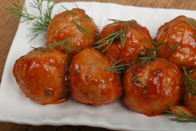 Boules de viande image stock