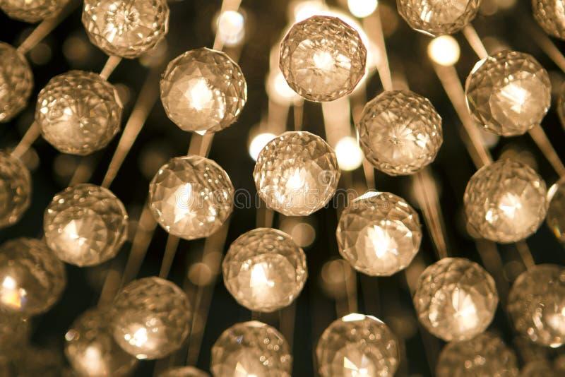 Boules en cristal de lustre photo stock